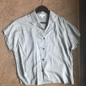 Blue Grey Camp Short sleeved Blouse